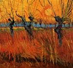 Живопись | Винсент ван Гог | Ивы на закате, 1888