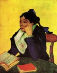 Живопись | Винсент ван Гог | Мадам Жино с книгами, 1888