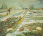 Живопись | Винсент ван Гог | Пейзаж со снегом . Март, 1888
