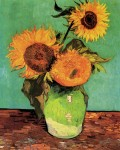 Живопись | Винсент ван Гог | Три подсолнуха в вазе, 1888