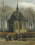 Живопись | Винсент ван Гог | Congregation Leaving the Reformed Church in Nuenen