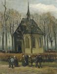 Живопись | Винсент ван Гог | Congregation Leaving the Reformed Church in Nuenen