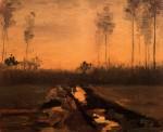 Живопись | Винсент ван Гог | Landscape at Dusk