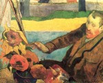 Живопись | Поль Гоген | Винсент Ван Гог рисующий подсолнухи, 1888
