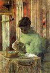 Живопись | Поль Гоген | Вышивальщица, или Метте Гоген, 1878