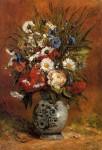 Живопись | Поль Гоген | Георгины и пионы в синей вазе, 1876