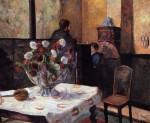 Живопись | Поль Гоген | Интерьер дома художника на рю Карсель, 1881