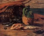 Живопись | Поль Гоген | Натюрморт с красной кефалью и кувшином, 1876