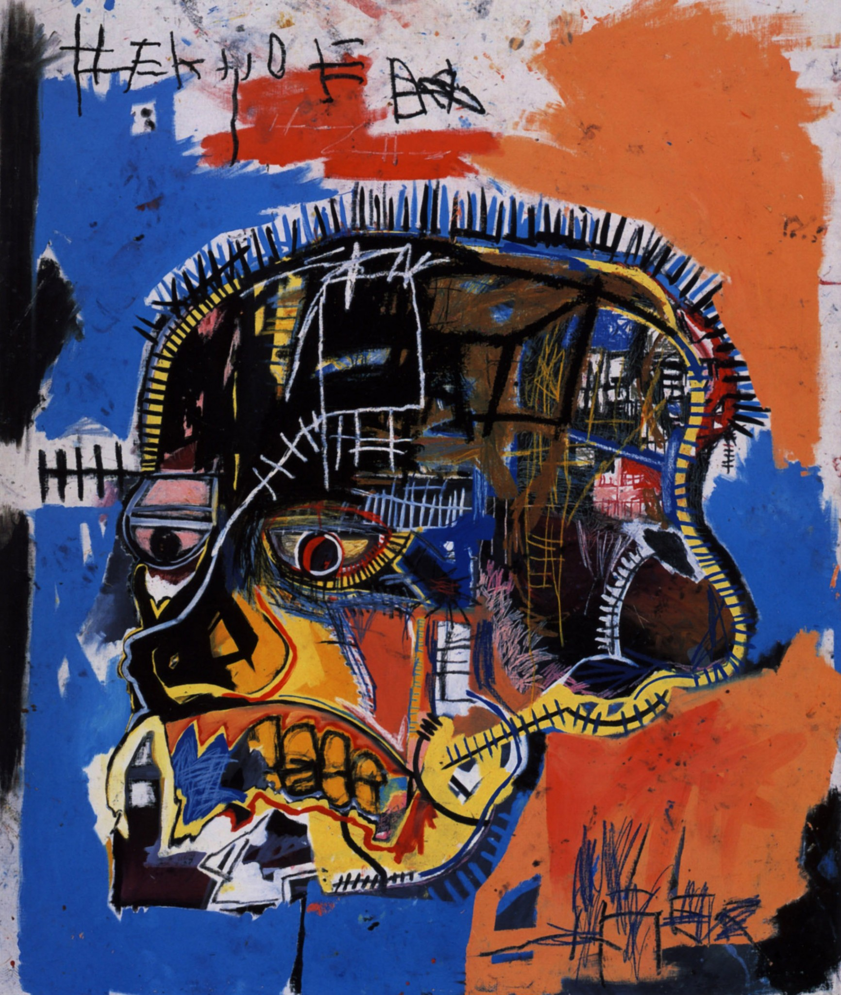 a biography of jean michel basquiat Jean-michel basquiat's painting of a skull sold for $1105 million at sotheby's in new york, setting an auction record for american artists and providing a windfall for the daughter of two.