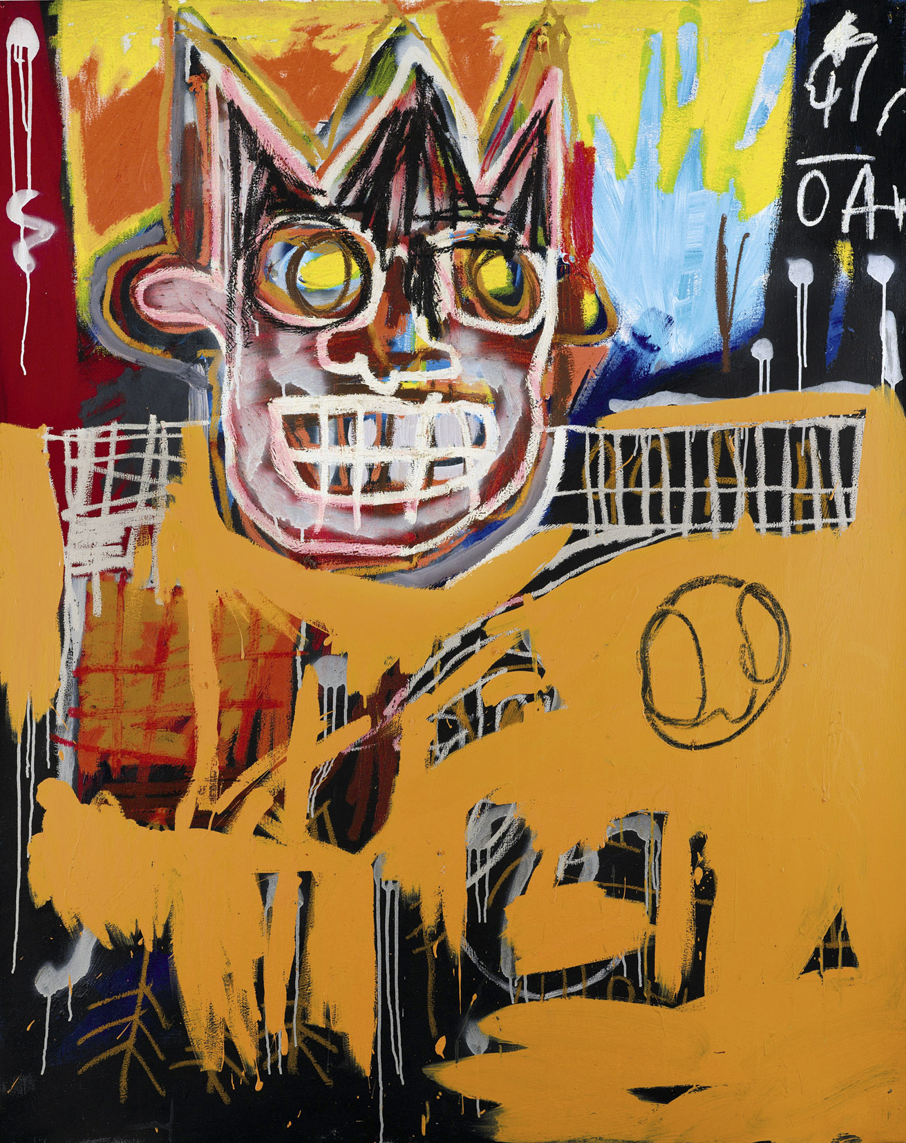 Jean-Michel Basquiat. Orange Sports Figure
