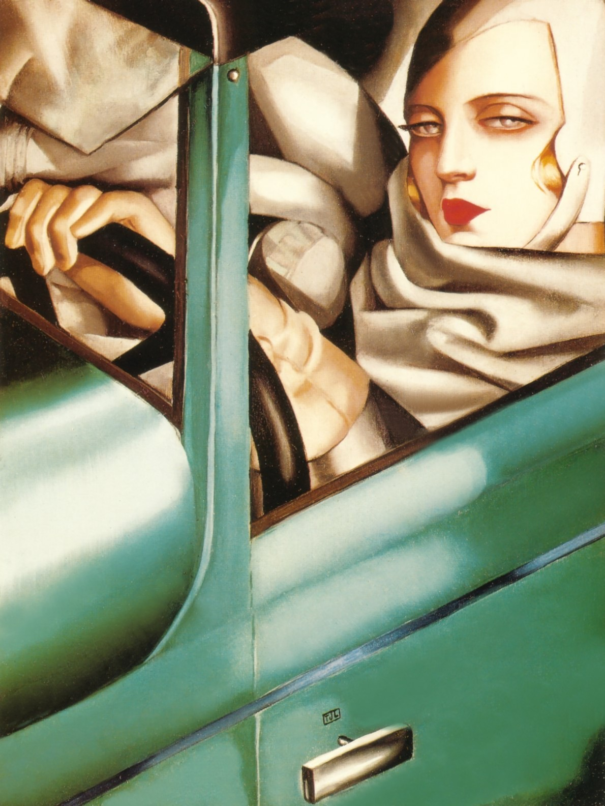 Тамара де Лемпицка. Self-Portrait in Green Bugatti, 1925