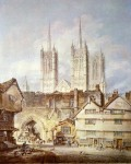 Живопись | William Turner | Cathedral church at Lincoln