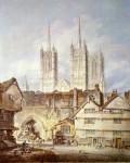 Живопись | Уильям Тёрнер | Cathedral church at Lincoln
