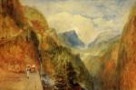 Живопись | William Turner | Mont Blanc from Fort Roch, Val D'Aosta