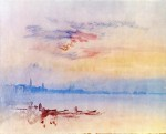 Живопись | William Turner | Venice looking east from the guidecca sunrise