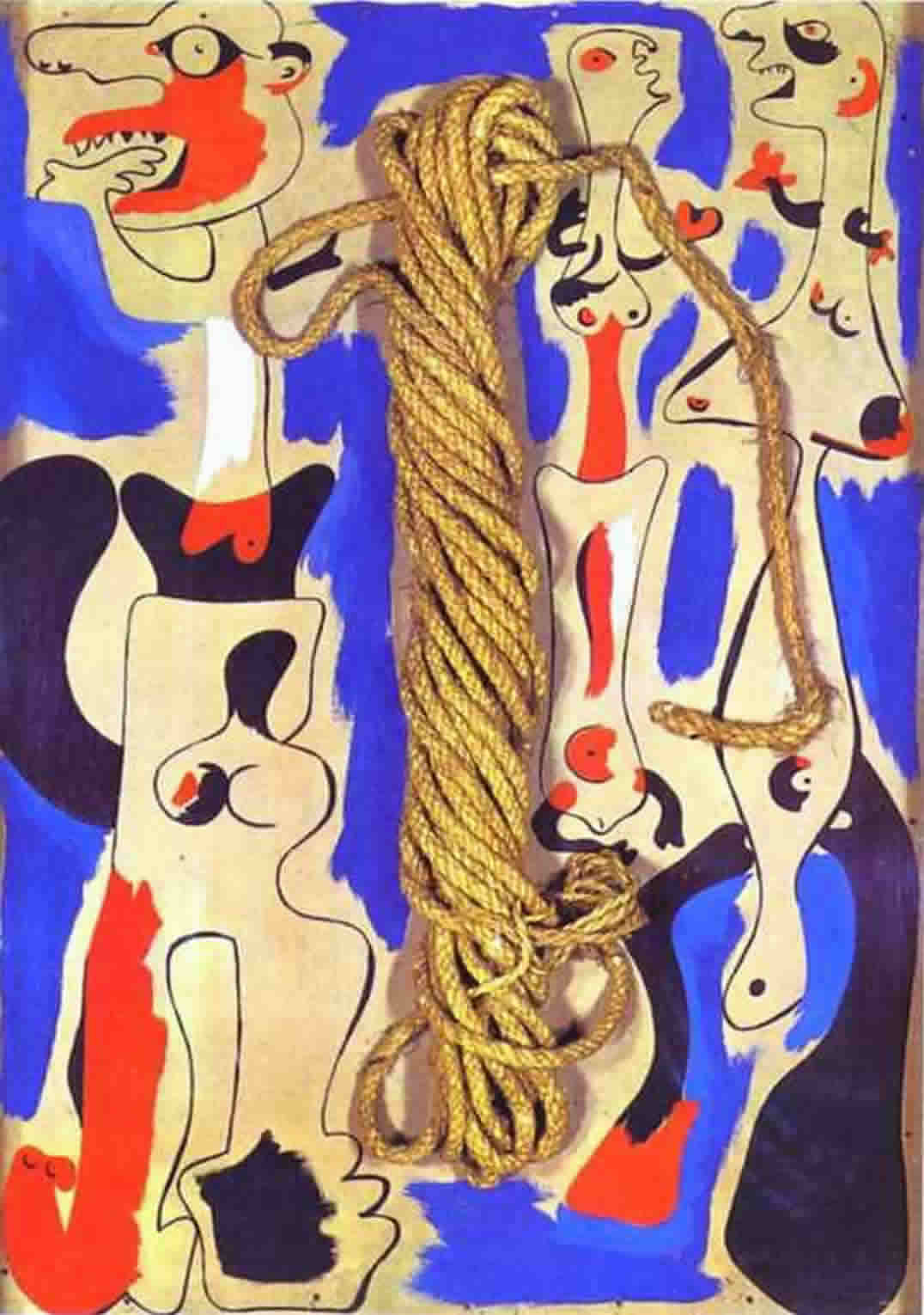 Жоан Миро. Rope and People I, 1935