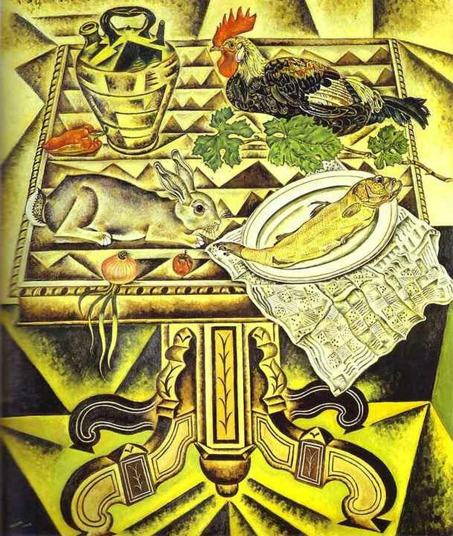 Жоан Миро. «Натюрморт с кроликом» (The Table (Still Life with Rabbit), 1920)