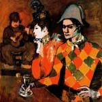 Живопись | Пабло Пикассо | At 'Lapin Agile' (Harlequin with Glass), 1905
