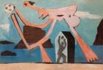 Живопись | Пабло Пикассо | Ballplayers on the beach, 1928