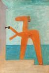 Живопись | Пабло Пикассо | Bather opening a cabin, 1928