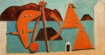 Живопись | Пабло Пикассо | Bathers on the beach, 1928