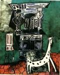 Живопись | Пабло Пикассо | Buffet Henry II and armchair with dog, 1959