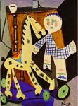 Живопись | Пабло Пикассо | Claude, two years old, and his hobby horse, 1949