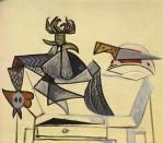 Живопись | Пабло Пикассо | Cock and knife, 1947