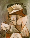 Живопись | Пабло Пикассо | Crouching female nude, 1959