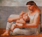 Живопись | Пабло Пикассо | Femme et enfant au bord de la mer, 1921