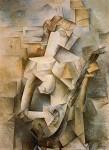Живопись | Пабло Пикассо | Girl with mandolin (Fanny Tellier), 1910