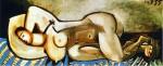 Живопись | Пабло Пикассо | Lying naked woman, 1955