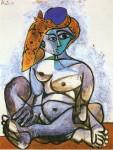 Живопись | Пабло Пикассо | Nude woman with turkish bonnet, 1955