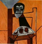 Живопись | Пабло Пикассо | Owl on a chair and sea urchins, 1946