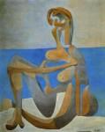 Живопись | Пабло Пикассо | Seated bather on the beach, 1929
