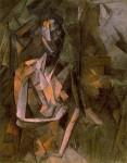 Живопись | Пабло Пикассо | Seated female nude, 1910