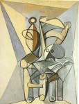 Живопись | Пабло Пикассо | Still life with skull on an armchair, 1946