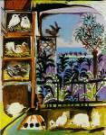 Живопись | Пабло Пикассо | Studio (Pigeons) (Velazquez), 1957