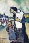 Живопись | Пабло Пикассо | The mother leading two children, 1901