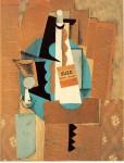 Живопись | Пабло Пикассо | Verre et bouteille de Suze, 1912