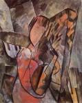 Живопись | Пабло Пикассо | Woman with mandolin, 1909