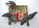 Инсталляция | Valerie Hegarty | Still Life with Watermelon, Peaches and Crows