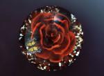 Творчество | Loren Stump | Пресс-папье | Rose and Butterfly