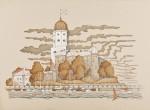 Живопись | Владимир Колбасов | Выборгские Зарисовки | Осенний замок