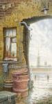 Живопись | Владимир Колбасов | Город | Пейзаж с плюшевым мишкой и Петропавловской крепостью