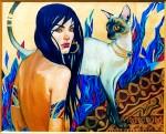 Живопись | Галла Фаттах | Кошки
