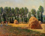 Живопись | Клод Моне | Стога сена в Живерни, 1885