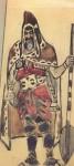 Живопись | Михаил Врубель | Варяжский гость (Эскиз костюма для оперы Садко), 1897