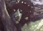 Живопись | Михаил Врубель | Голова Демона на фоне гор, 1890