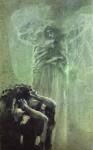 Живопись | Михаил Врубель | Демон и Ангел с душой Тамары, 1891